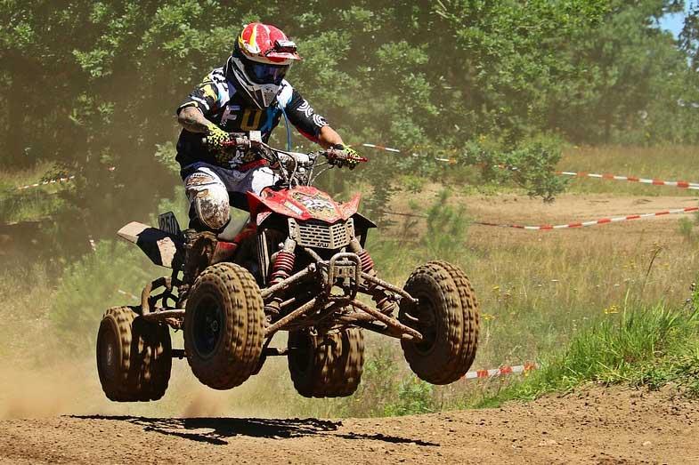 ATV Rider Dirt Track Motocross