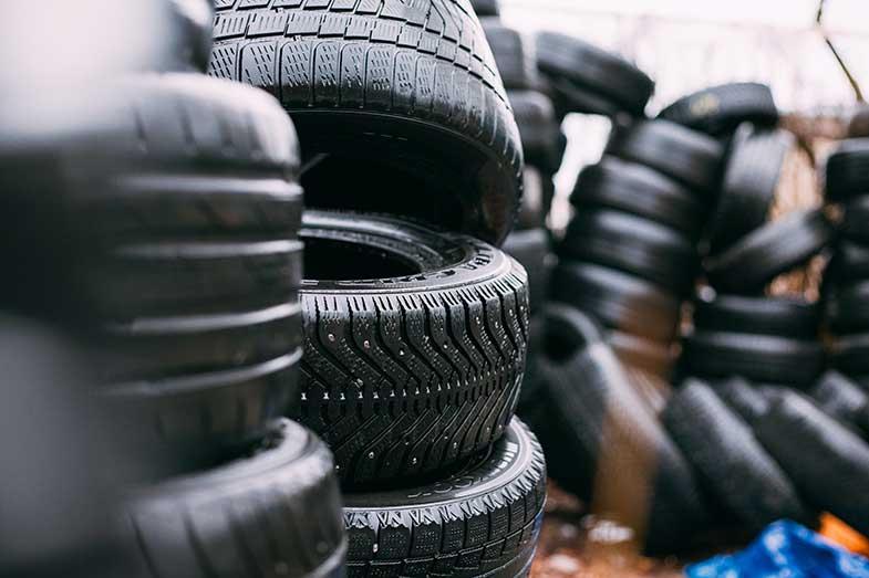 Car Tire Pile