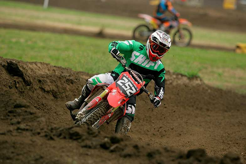 Motocross Dirt Bike Rider MX Track