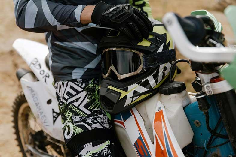 Dirt Bike Gear, Helmet, Goggles, Bike
