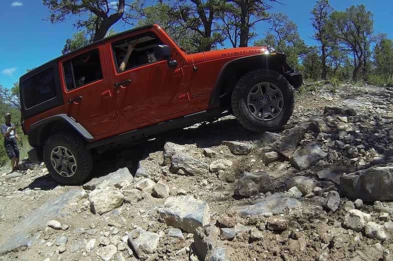 Off-Road Jeep Hill Climb in Cedro Peak, New Mexico
