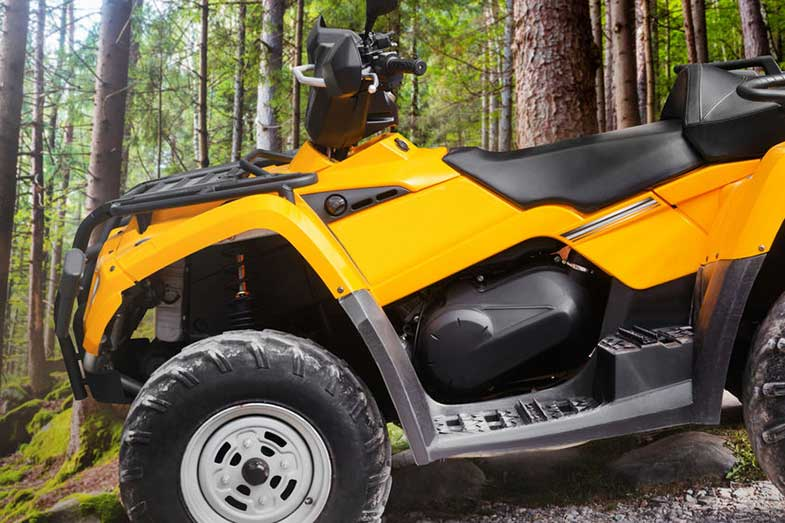 Yellow Off-Road ATV in Forest