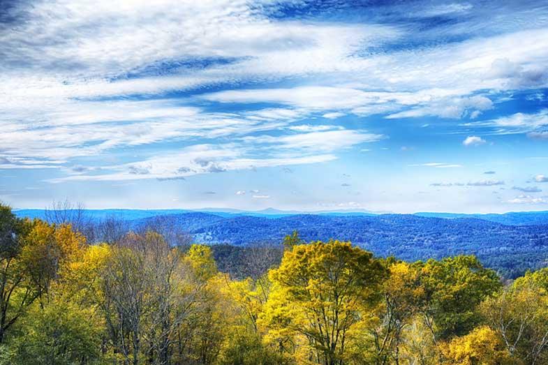 Connecticut Autumn Landscape, New England