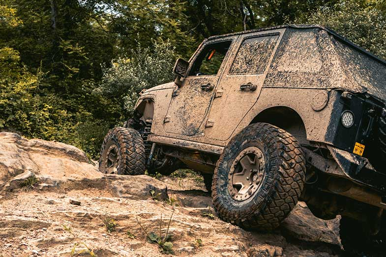Off-Road Vehicle Rock Crawling