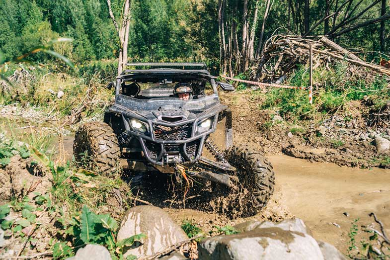 Race ATV in the Mud