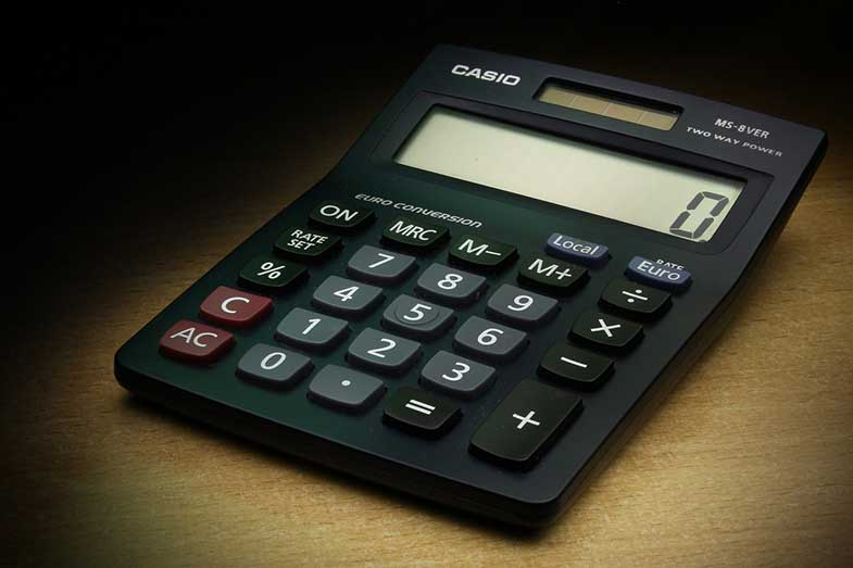 Black Casio Calculator
