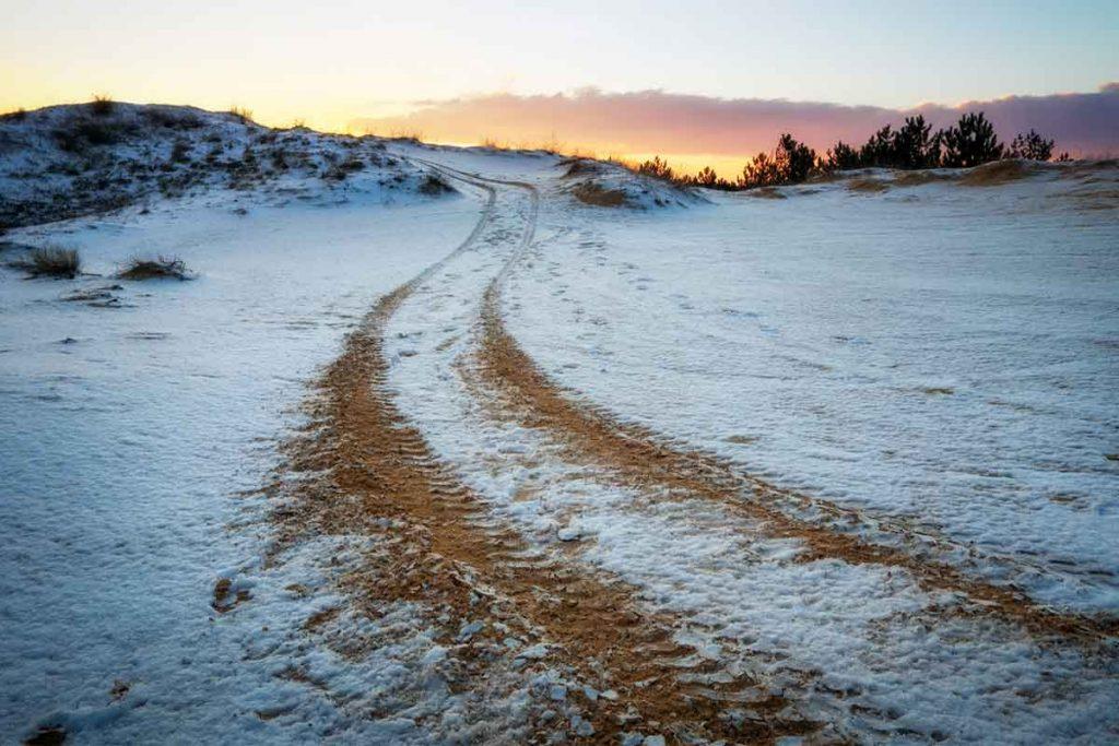 ATV Trail Snow Dirt