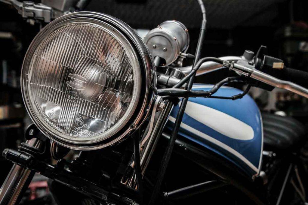 Close-Up Motorcycle Headlight