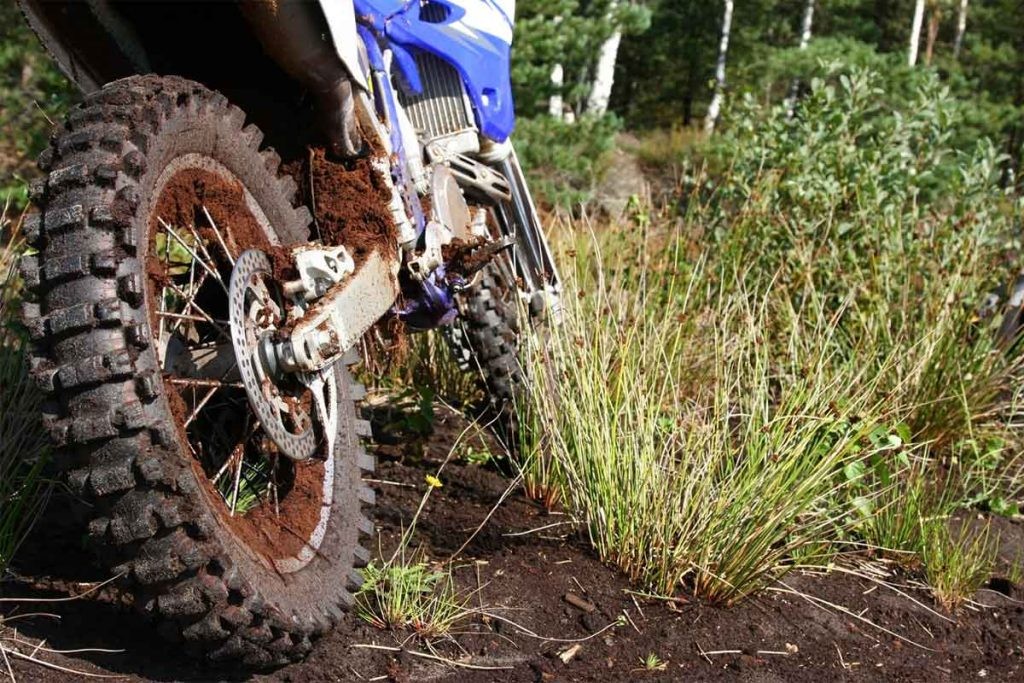 Dirt Bike Trail with Mud and Grass