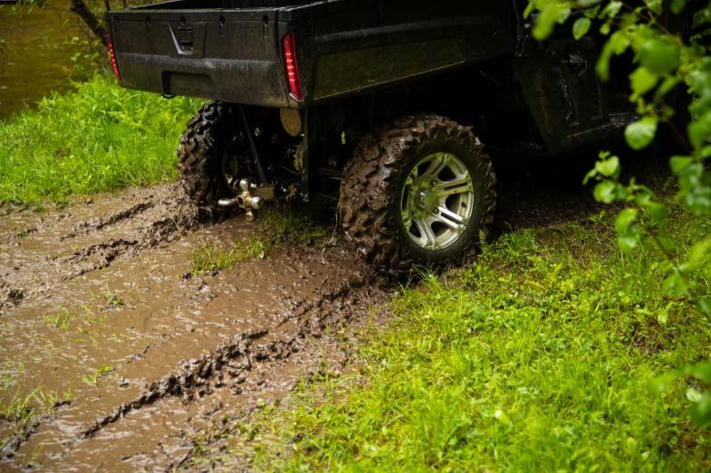 Off-Roading UTV in Wet Environment