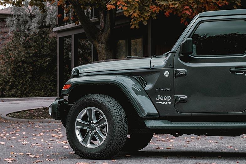 Parked Jeep Wrangler Sahara