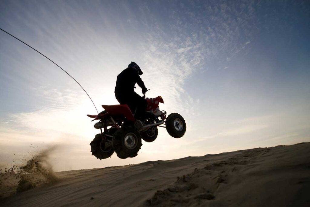 ATV Sand Dune Jump