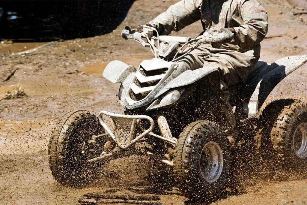 Four Wheeler ATV in Mud