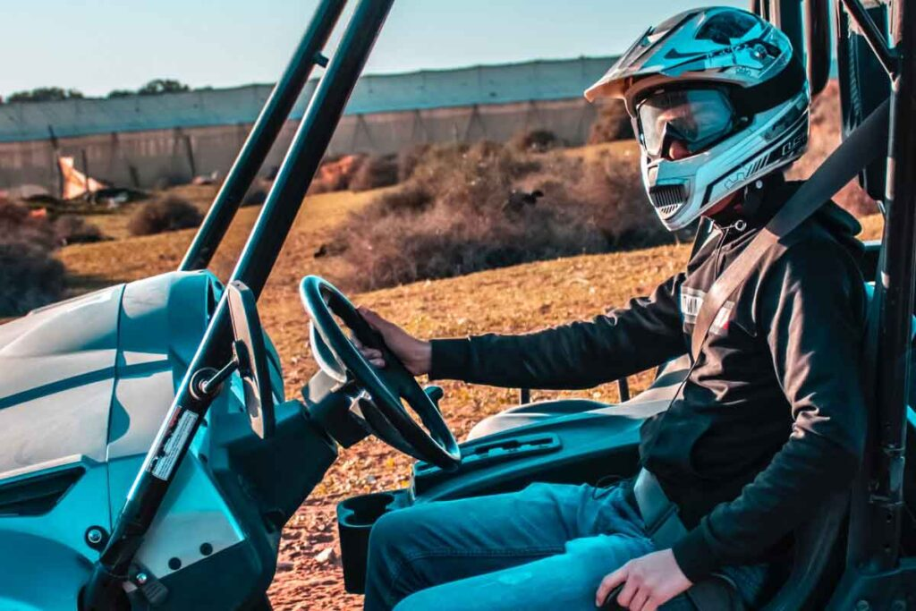 Person Riding UTV Side-By-Side