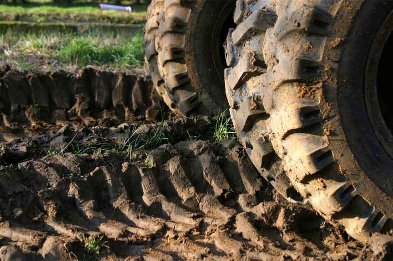 Tire Tracks Mud