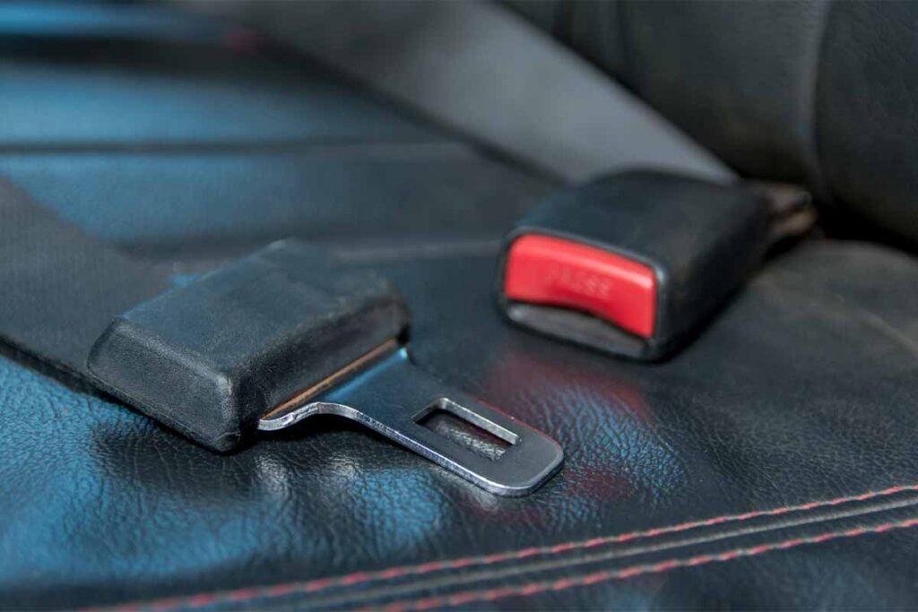 Car Seat Belt on Passenger Seat