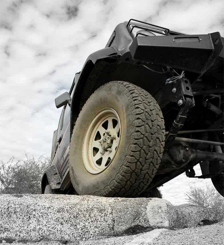 Off-Road Jeep on Rock