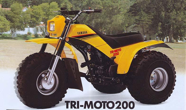 Yellow Yamaha Tri Moto 200