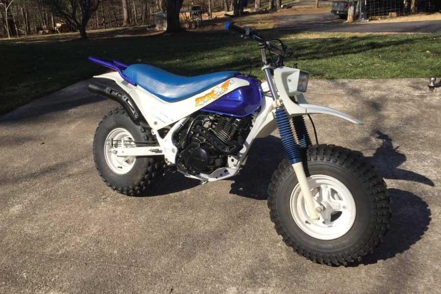 Blue 1986 Honda TR200 Fat Cat Bike