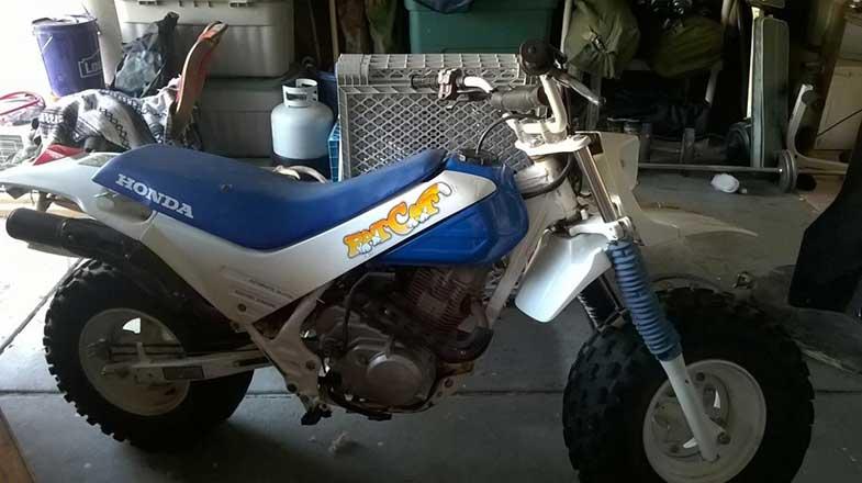 Blue 1987 Honda Fat Cat Bike