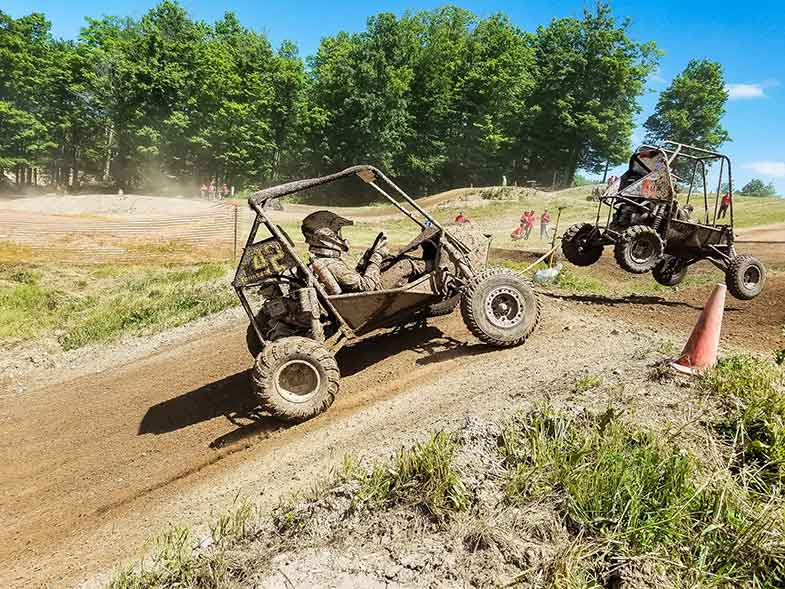 Dune Buggy on Dirt Road