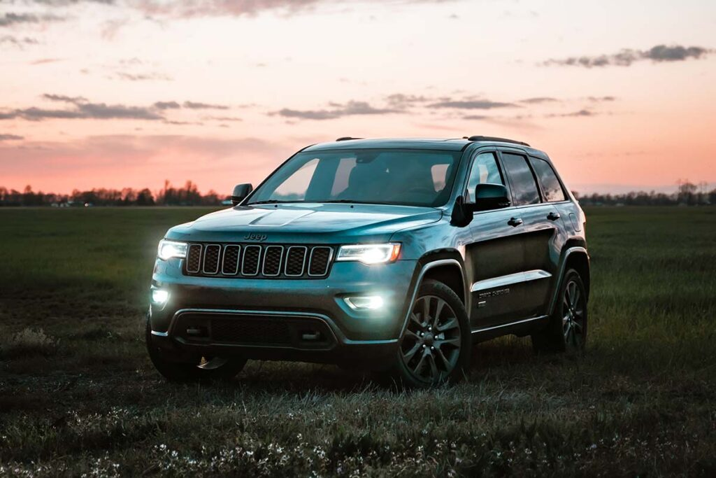 Jeep Grand Cherokee Parked on Grass