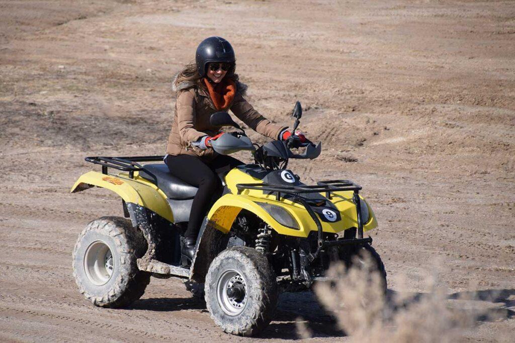 Yellow ATV Desert Drive