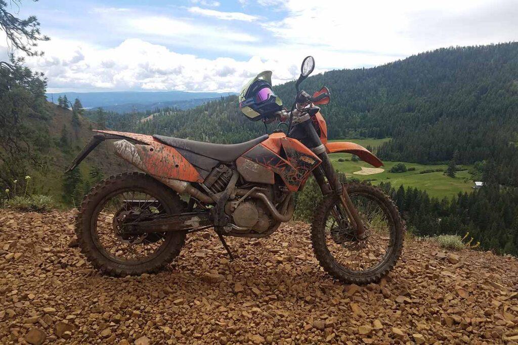 Orange KTM Dirt Bike